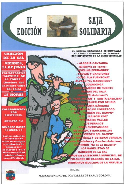 Cartel Festival Saja Solidaria 2013