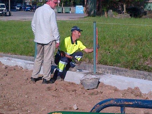 Operarios municipales trabajando