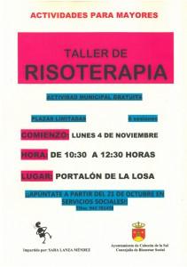 TALLER RISOTERAPIA para MAYORES     Ayto Cabezón       nov 2013