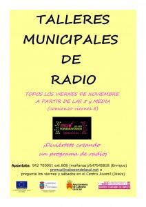 cartel talleres de radio