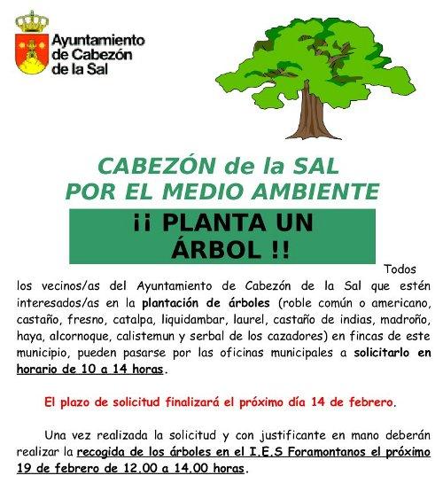 Cartel Planta un Árbol