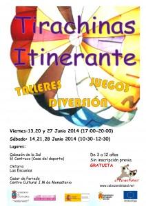 cartel itinerantes junio14.  2