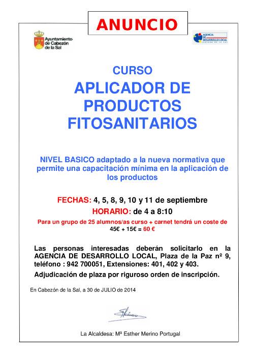 ANUNCIO curso fitosanitarios