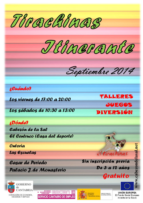 Cartel Tirachinas Itinerante septiembre