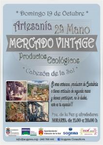 CARTEL MDO VINTAGE ECOLÓGICO CABEZÓN DE LA SAL 19-10-2014