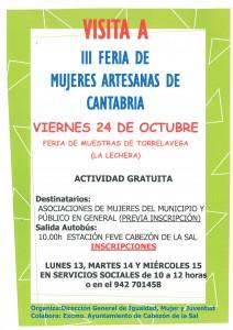 Cartel Visita Feria de Artesanas Torrelavega
