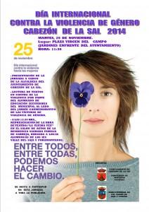Cartel día contra la violencia de género 2014