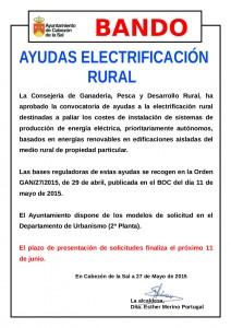 Bando Ayudas Electrificación Rural