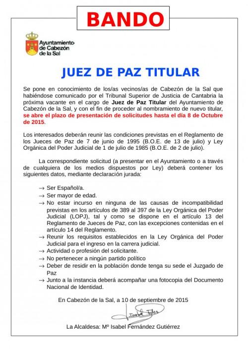 Bando Municipal Juez Titular 2015