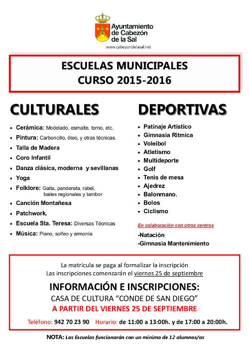 Escuelas Municipales 2015-2016