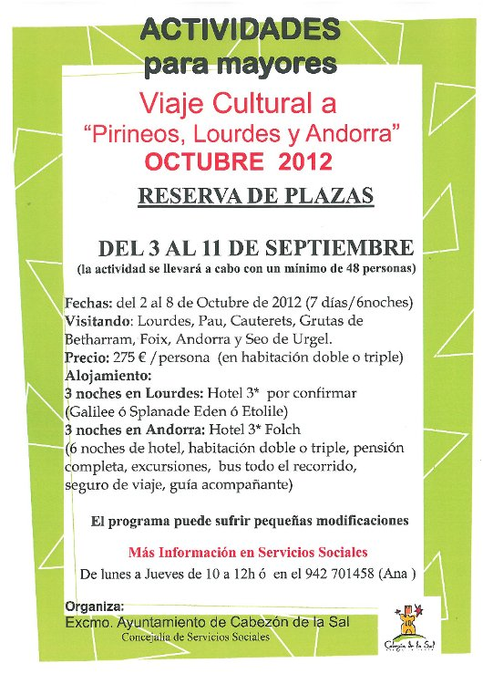 Salida Cultural Pirineos Octubre 2012
