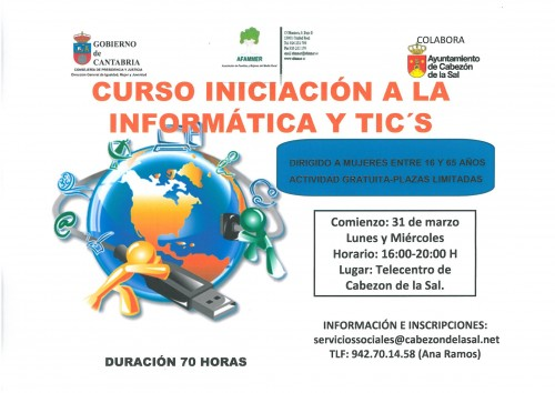 Curso De Iniciación A La Informática Y Tic S Ayuntamiento De Cabezón De La Sal