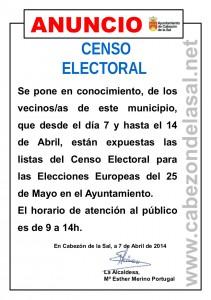 Bando Elecciones Europeas Exposicion Listas