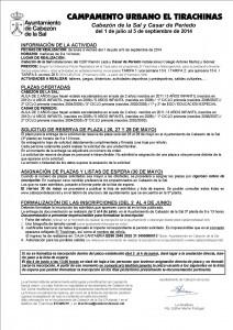 INFORMACIÓN TIRACHINAS 2014